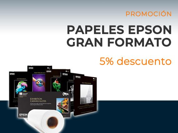 Oferta Papeles Epson gran formato con un 25% de descuento