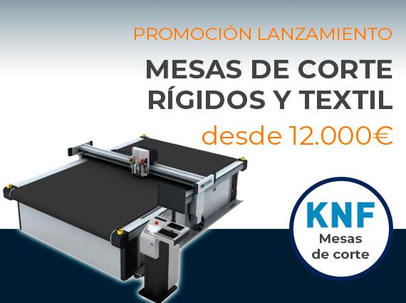 Oferta de lanzamiento de las máquinas de corte digital para rígidos y textil