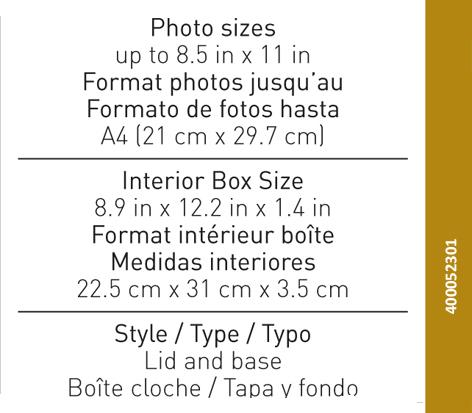 Caja para Archivo Fotográfico