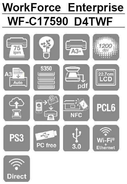 Caracteristicas de la impresora Epson WorkForce Enterprise WF-C17590 D4TWF