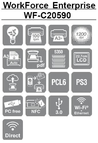 Caracteristicas de la impresora Epson WorkForce Enterprise WF-C20590