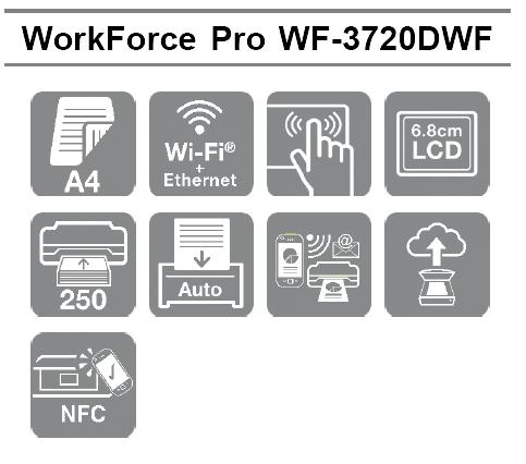 Las mejores características profesionales de la Impresora Epson WorkForce WF-3720DWF en formato A4