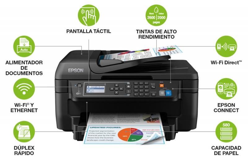 Las mejores características profesionales de la Impresora Epson WorkForce WF-2750DWF