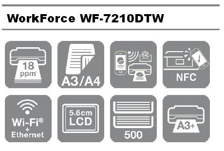 Las mejores características profesionales de la Impresora Epson WorkForce WF-7210DTW en formato A3