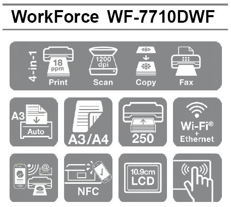 Las mejores características profesionales de la Impresora Epson WorkForce WF-7710DWF en formato A3