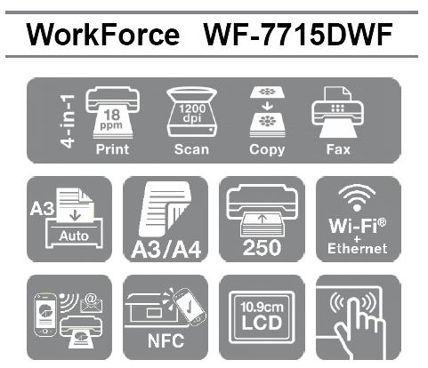 Las mejores características profesionales de la Impresora Epson WorkForce WF-7715DWF en formato A3