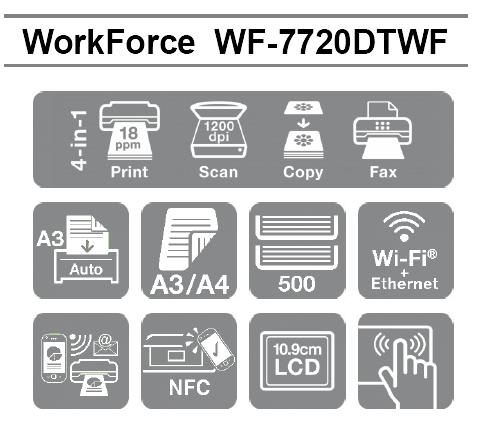 Las mejores características profesionales de la Impresora Epson WorkForce WF-7720DTWF en formato A3