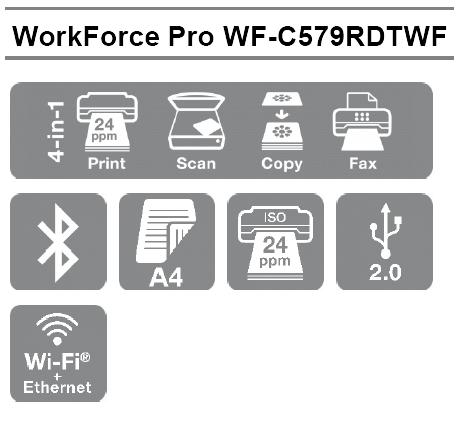 Las mejores características profesionales de la Impresora multifuncion Epson WorkForce Pro WF-C579RDTWF en formato A4