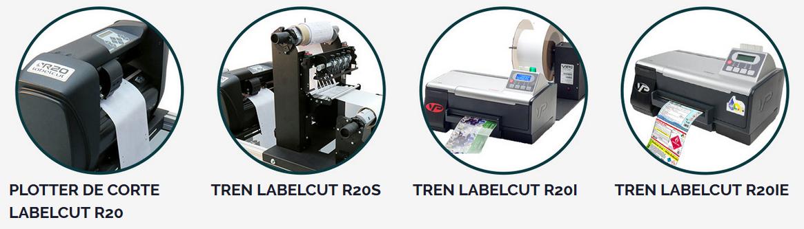 Tren de impresión y corte Labelcut