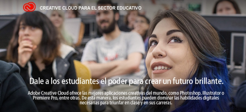 Adobe Creative Cloud para el sector educativo y estudiantes