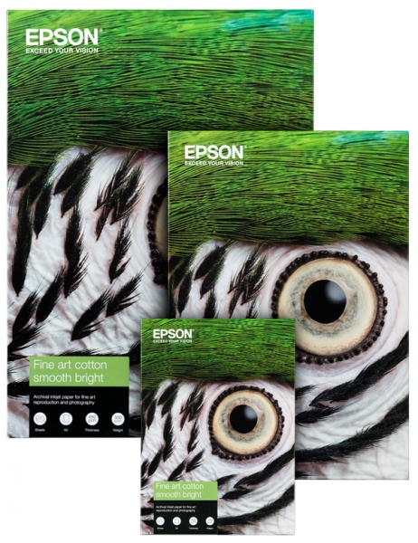 Papel Epson Fine Art Cotton Smooth Natural 300grs