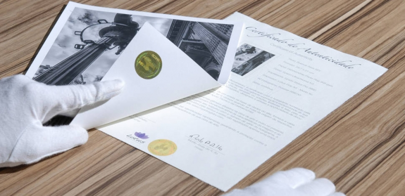 Hahnemühle Certificados de Autenticidad
