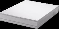Unisub Lámina de Acero Blanco brillo 1 lado 0,58 mm