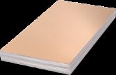 Unisub Lámina Aluminio Oro brillo 1 lado 0,76mm