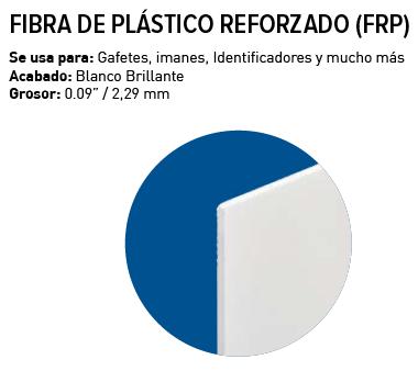 Unisub Lámina FRP Plástico Blanco brillo 1 lado 2,28 mm
