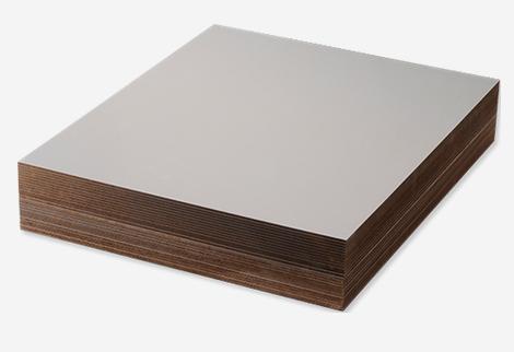 Unisub Lámina de madera trenzada HB Blanco brillo 1 lado 6,35 mm