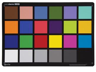 Objetivo xrite ColorChecker Classic