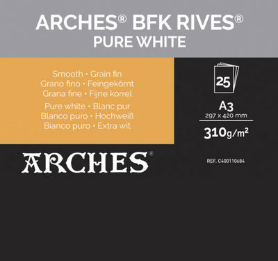 Papel Canson Infinity BFK Rives Pure White 310g