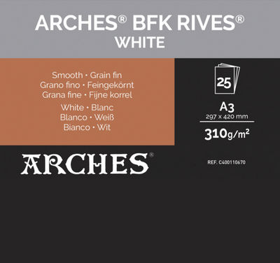 Papel Canson Infinity BFK Rives Natural White 310g