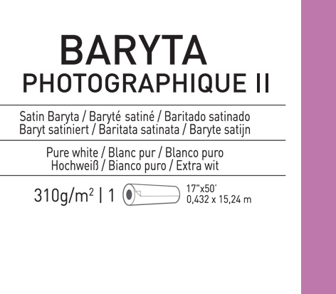 Papel Canson Infinity Baryta Photographique II Satin 310grs